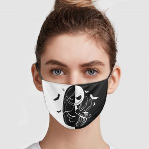 Jack Skellington And Sally Face Mask