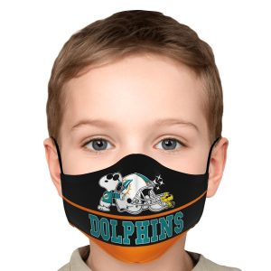 snoopy-miami-dolphins-fabric-face-mask-washable