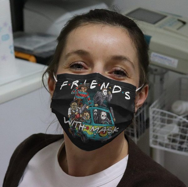 Friends With Mask Horror Characters Face Mask