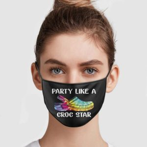 party-like-a-croc-star-face-mask