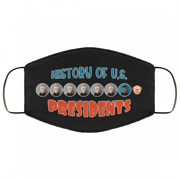 history of us presidents trump clown face mask