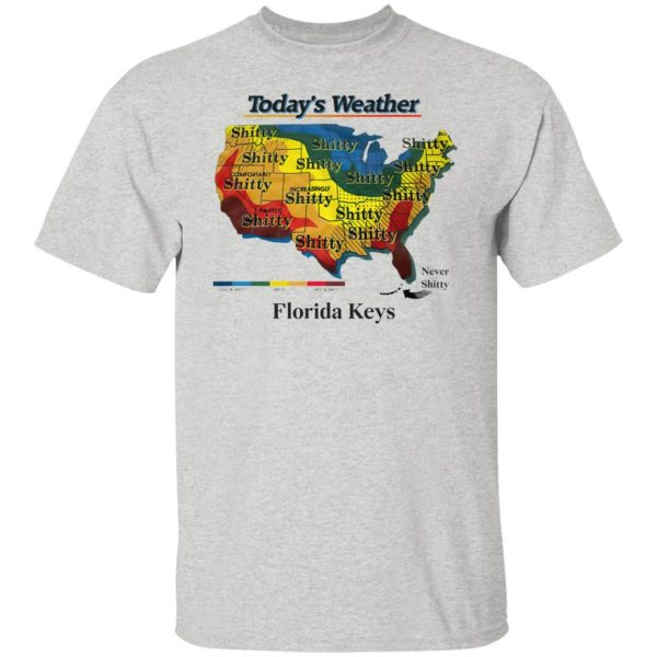 Today's weather shitty shirt