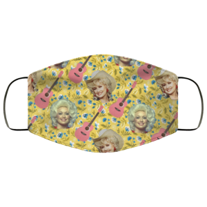 Dolly Parton Wildflowers Face Mask