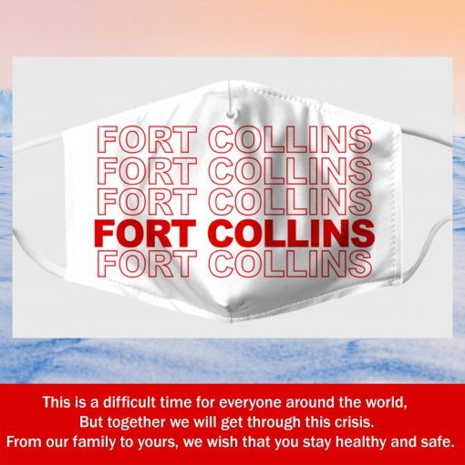 fort collins foco fabric filter face mask