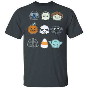 Round And Mini Faces Star Wars Halloween shirt