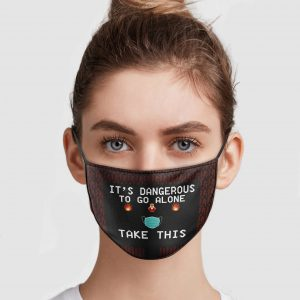 Video Game It's Dangerous To Go Alone Take This Face Mask