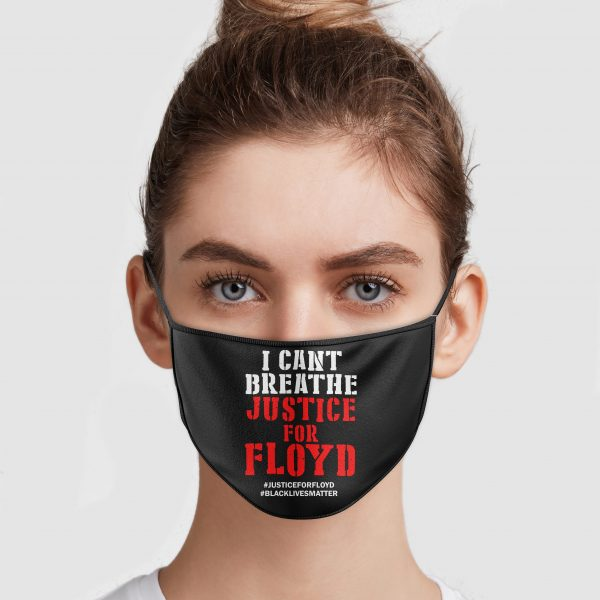 I Can't Breathe Justice For Floyd Face Mask