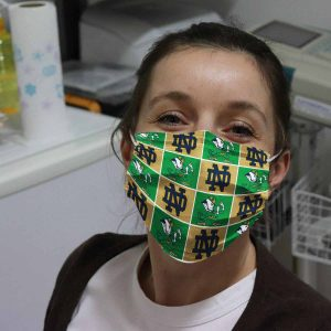 Notre Dame Fighting Face Mask