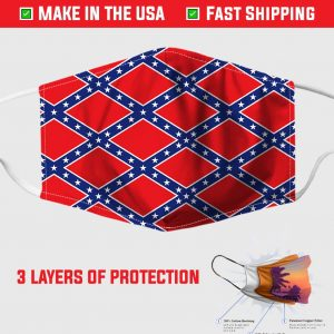 Confederate Flag Pattern Face Mask