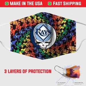 Tampa Bay Rays The Grateful Dead Face Mask