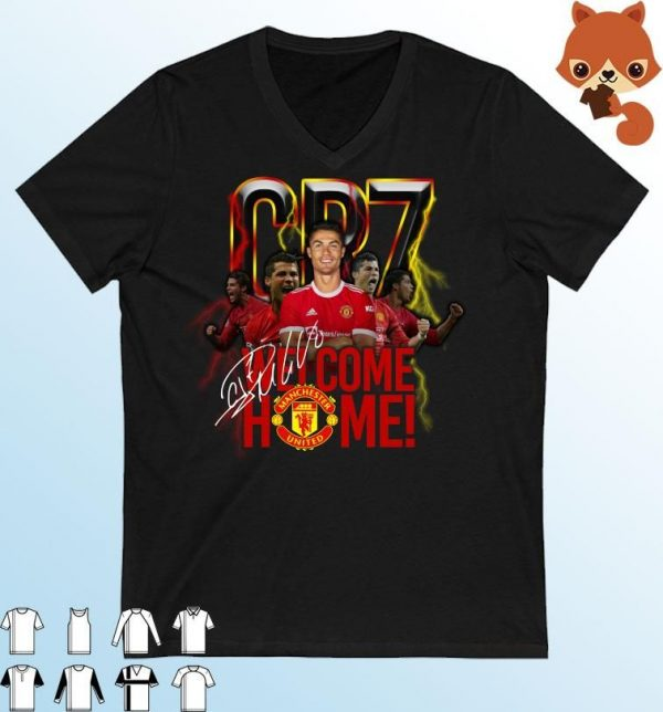 CR7 Cristiano Ronaldo Signature Welcome Back To Manchester United T-Shirt