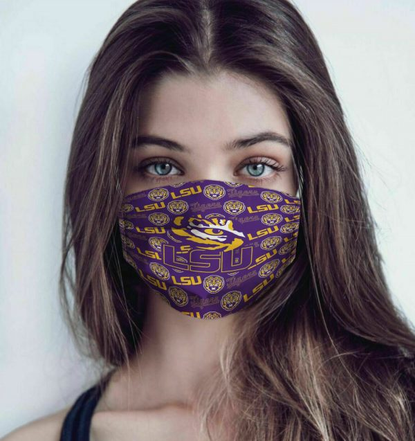 LSU Tigers Cotton Face Mask