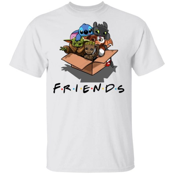 Baby Yoda Gizmo Groot Stitch and Toothless Friends shirt