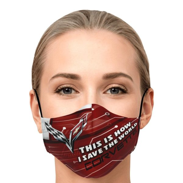 Corvette This is How I Save The World Face Mask