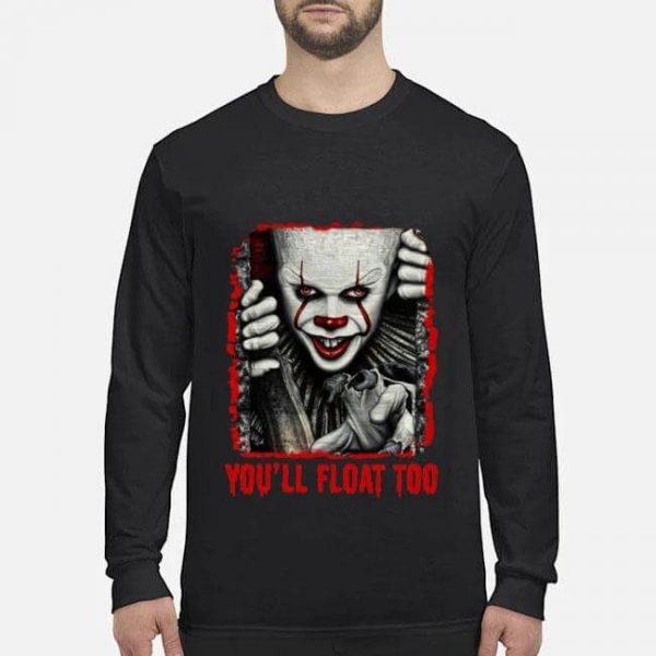 pennywise you ll float too halloween shirt long sleeved