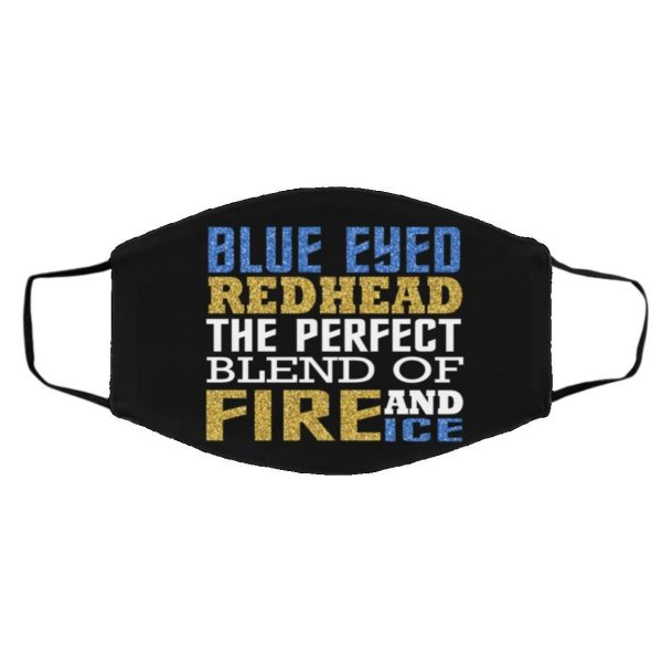Blue Eyed Redhead The Perfect Blend Of Fire And Ice Face Mask