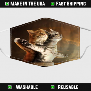 Cat Titanic My Heart Will Go Meow Face Mask
