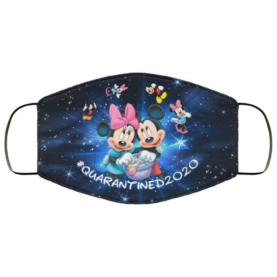 Mickey Mouse And Minnie Quarantined 2020 Face Mask