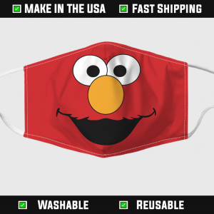 Red Elmo Face Mask