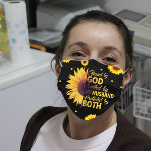 Sunflower Cathy Blessed By God Spoiled By My Husband Face Mask