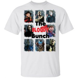 The Bloody Bunch Horror Movies Characters Halloween shirt