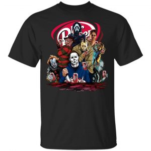 Halloween Horror Movies Characters Drink Dr Pepper shirt