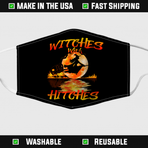 Witches With Hitches Halloween Face Mask