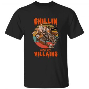 Hocus Pocus Sanderson Sisters Witches Chillin With My Villains Halloween Shirt