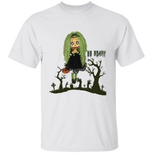 Girl In Cemetery Be Scary Halloween Shirt