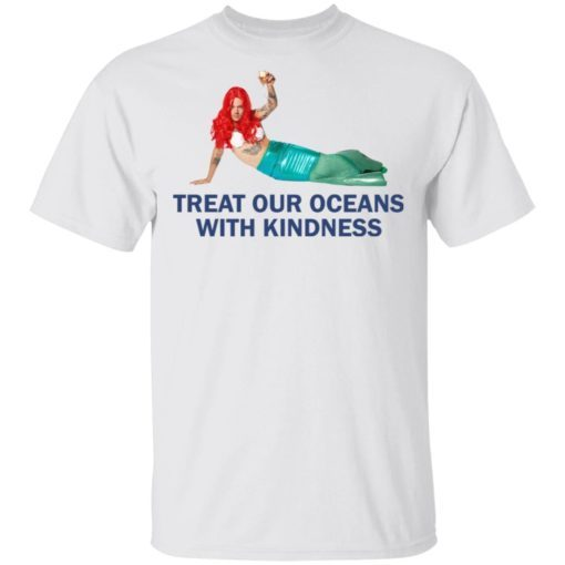 Harry Styles Mermaid Treat our oceans with kindness shirt